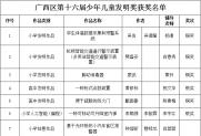 第十六届宋庆龄少年儿童发明奖广西区获奖名单